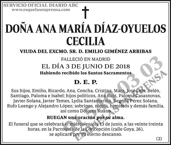 Ana María Díaz-Oyuelos Cecilia